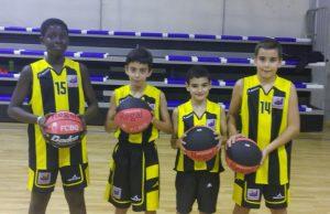 Moha, Àlex, Marc i Ivan, jugadors del CB Pardinyes