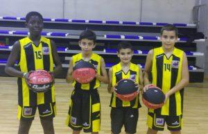 Moha, Àlex, Marc e Ivan amb el combinat Lleida/Sud 05