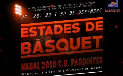 ESTADES I TORNEIG DE NADAL DEL CLUB BÀSQUET PARDINYES 2016