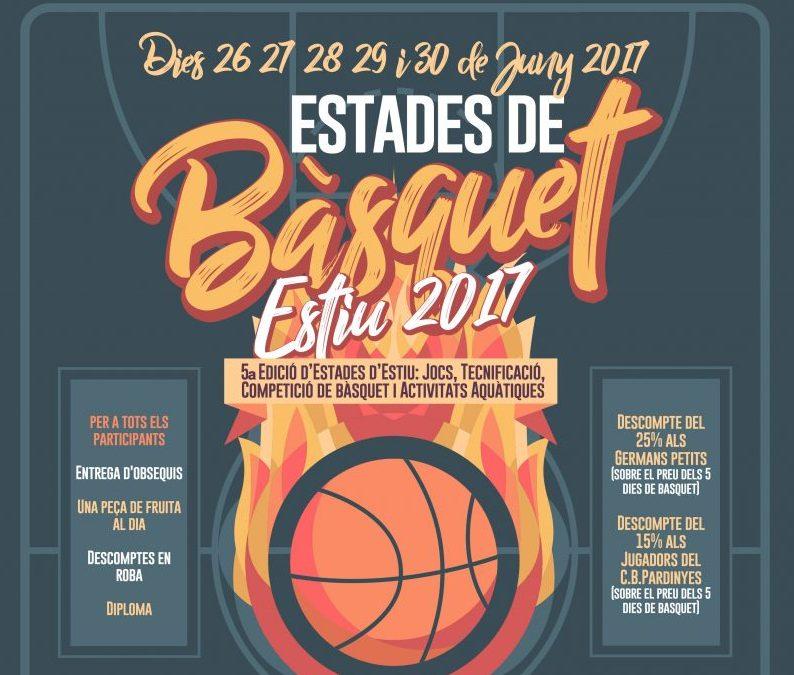 ESTADES D'ESTIU DEL CLUB BÀSQUET PARDINYES 2017