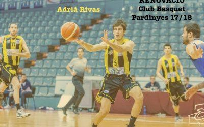 Adrià Rivas, quart jugador renovat