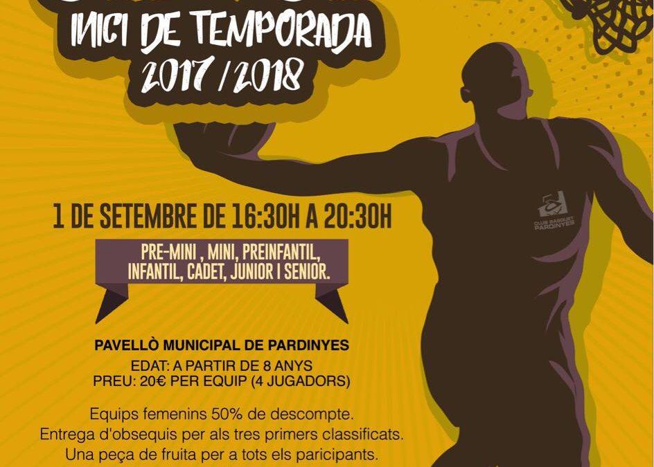 ARRIBA EL TORNEIG D'INICI DE TEMPORADA 2017-18